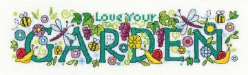 Love Your Garden from  Karen Carter Collection Cross Stitch Kit